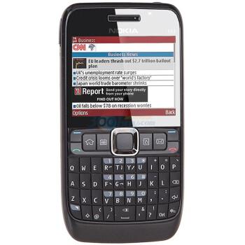 诺基亚(NOKIA)E63 3G手机(黑色)WCDMA/GSM 非定制机