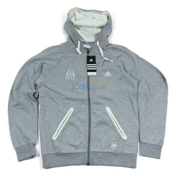 正品adidas阿迪达斯男式运动训练系列连帽夹克P74088