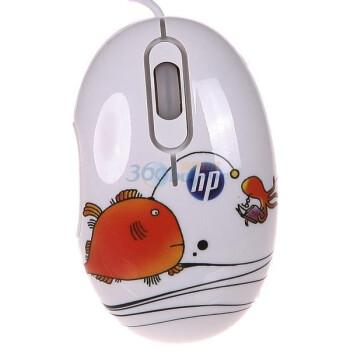 惠普(HP)RQ220PA#AB2 开心小鱼水转印鼠标(白色)
