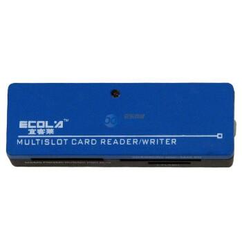 宜客莱(ECOLA)CRD-HR019 多彩口琴型USB2.0读卡器可读32GB(天蓝色)