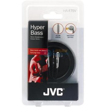 行货JVC低音导孔技术F75V耳机 69元包邮