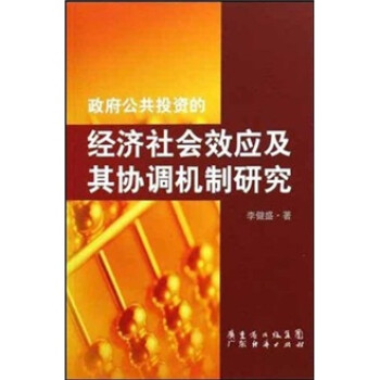 政府公共投资的经济社会效应及其协调机制研究 PDF电子版