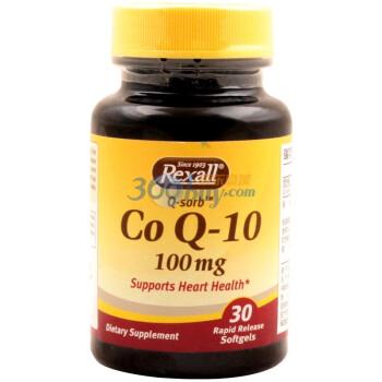 REXALL 瑞克苏尔 辅酶Q-10软胶囊 30粒*5瓶(100mg/粒)