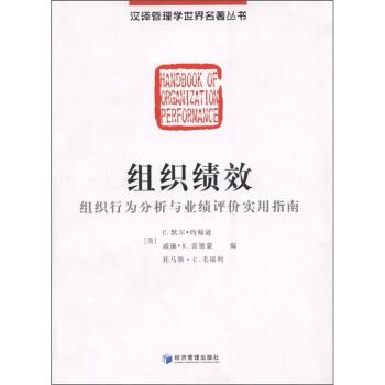 组织绩效:组织行为分析与业绩评价实用指南 电子书