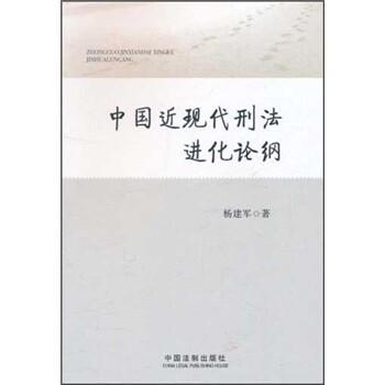 中国近现代刑法进化论纲 版