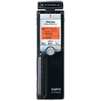 三洋(SANYO)ICR-PS380RM 4G 上推式麦克风PCM线性录音笔(黑色)