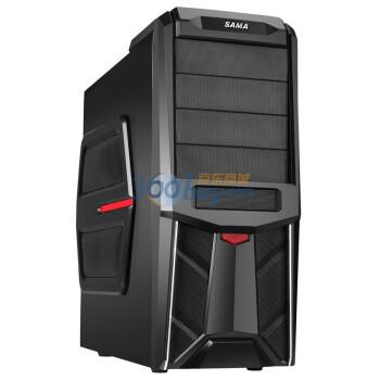 SAMA 先马 绝影6 中塔式机箱(电源下置/黑化/背线/侧透/水冷)