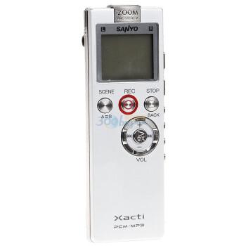 三洋(SANYO)ICR-PS504RM 4G 三麦克风可扩卡PCM线性 录音笔(银色)