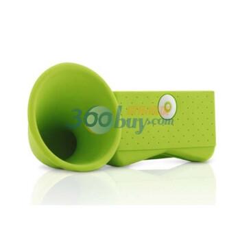 Bone Horn stand 号角扬声器 不需插电 适用于iphone4 绿色