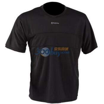 KingCamp男款吸湿速干抗UV短袖T恤KW6591黑色XXL码