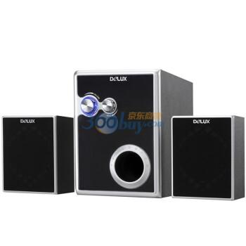 多彩(DELUX) DLS-2169 2.1多媒体音箱 黑银