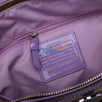 coach紫色包包