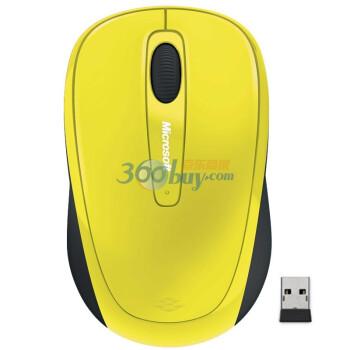 微软(Microsoft)无线蓝影便携鼠标3500 太阳黄色
