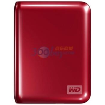 西部数据(WD)My Passport Essential USB3.0 500GB(红色)特惠礼包