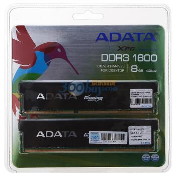 威刚(ADATA)游戏威龙 DDR3 1600  8G(4G×2) 台式机内存