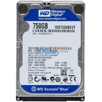 西部数据(Western Digital)750G WD7500KEVT 5200转8M SATA