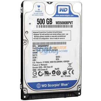 西部数据(Western Digital)500G WD5000BPVT 5400转 8M SATA