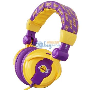 NBA IT05050 湖人队音享耳机 黄+紫