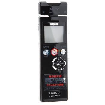 三洋(SANYO)ICR-PS603RM 4G 四麦克风可扩卡PCM线性录音笔(黑色)