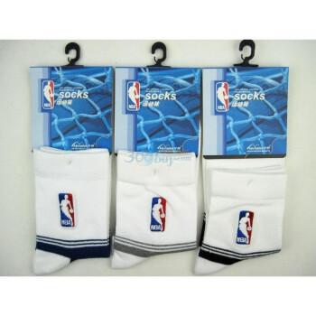 NBA男士运动休闲袜A065杂色三双装