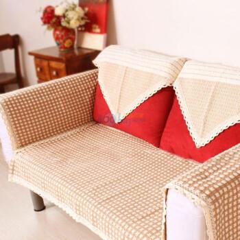 宜尚全棉沙发垫 花边359咖 70