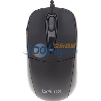 多彩(Delux)M105BU 有线鼠标 黑色