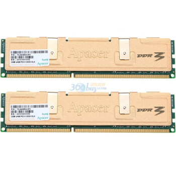 宇瞻(Apacer)黑豹金品 DDR3 1600 4G(2G×2条)台式机内存