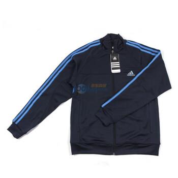 正品adidas阿迪达斯男式运动训练系列E66095三条纹针织夹克 159元包邮