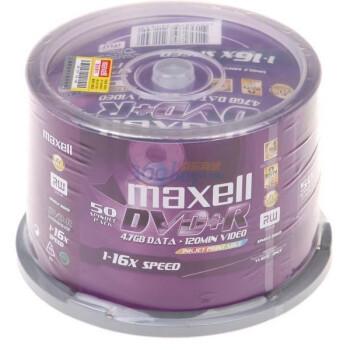 麦克赛尔(Maxell)DVD+R  16速 4.7GB  小圈可打印  50片桶装  刻录盘