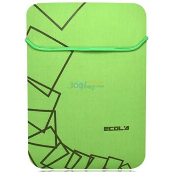 宜客莱(ECOLA) IN-NY12GO(GO视觉绿)12寸内胆包笔记本电脑包 透气式双面双色