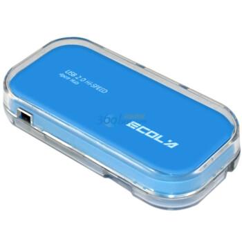 宜客莱(ECOLA)USB-HUB04BL Mego系列水晶多彩4口USB集线器  天蓝色(赠1米U