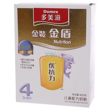 多美滋金装金盾4阶段儿童配方奶粉400g