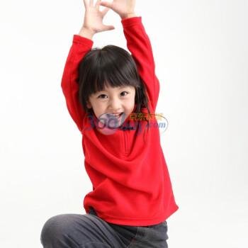 YD100 女童 超细摇粒绒 半开襟 长袖衫
