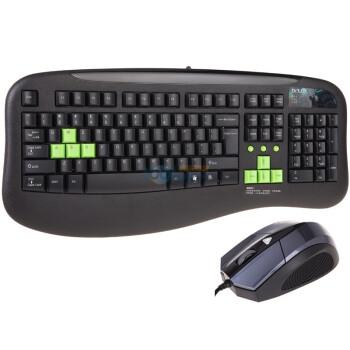 多彩(Delux) DLK8070P+M480BU 魔尊高手有线套装 黑 PS2/USB