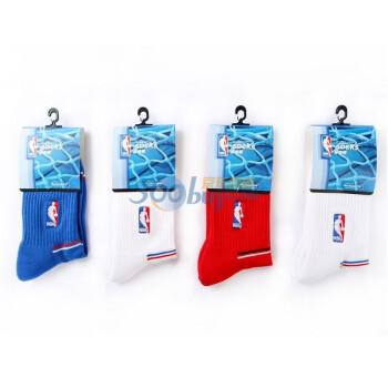 NBA 男士 半毛巾运动袜 A017 混色4双装