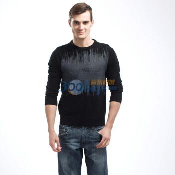 2013冬季新款时尚个性休闲潮流男装欧美风宽松圆领针织打底高清图片