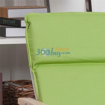 蜜巢 北欧实木曲木椅摇椅躺椅休闲椅 儿童椅SG K001 苹果绿