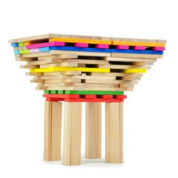 wisecube 智立方 建筑梦想之千变 积木条 150片桶装