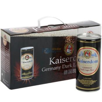 Kaiserdom 凯撒黑啤 1L*4罐(礼盒装)