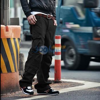 多口袋工装长裤子k05
