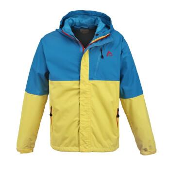 M360 冲锋衣-男款 休闲拼色款连帽 MM-3767蓝黄色 蓝色 M