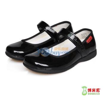 11新款女童皮鞋黑色大童鞋
