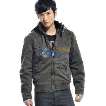 白菜控:MrZero零号男 时尚棉衣外套,49元包邮