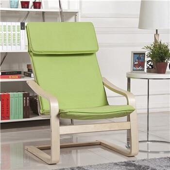 北欧实木弯曲椅曲木椅摇椅躺椅休闲椅子MLY 001 A 苹果绿
