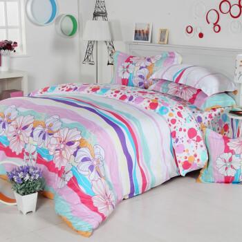 多喜爱家纺 风雅田园纯棉超大双人床单四件套1.8米床¥239  下单对折=¥119.5