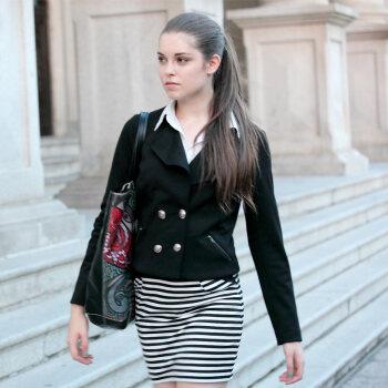 2012秋装新款 欧美通勤外套 修身短款小西装 女款小西服