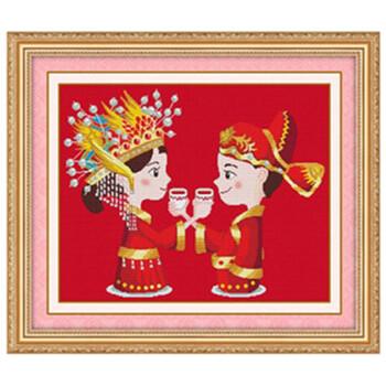 红色彩铅手绘婚纱
