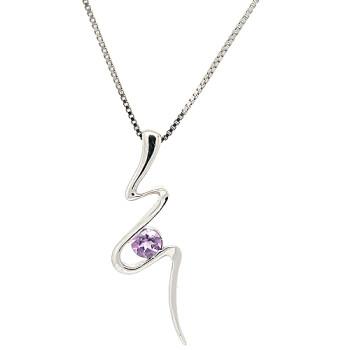 初雨轩纯银饰品 925银天然紫水晶吊坠饰品