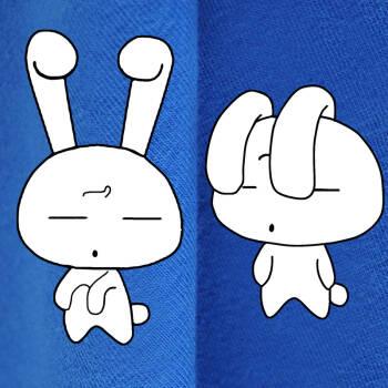 大兔子小兔子_蓝色兔子