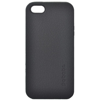 小破孩 iPhone 5 防滑皮革纹 手机保护套 黑色
